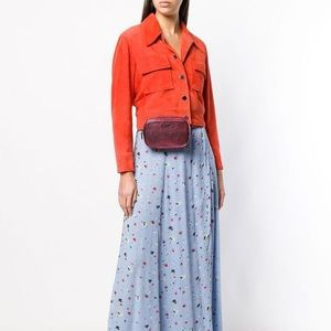 Coach metallic pink belt bag
